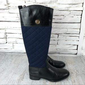 Tory Burch Rosalie Tall Stacked Heel Riding Boot